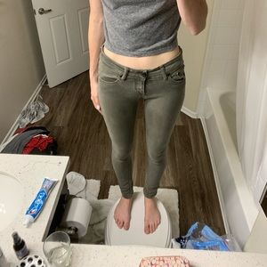 Brandy Melville olive green jeans